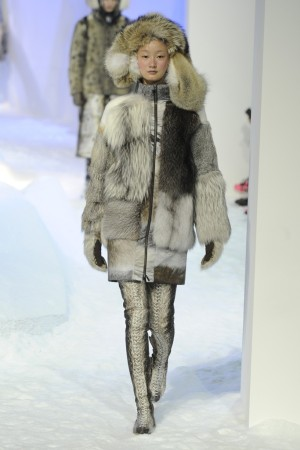 A Moncler look on the runway.