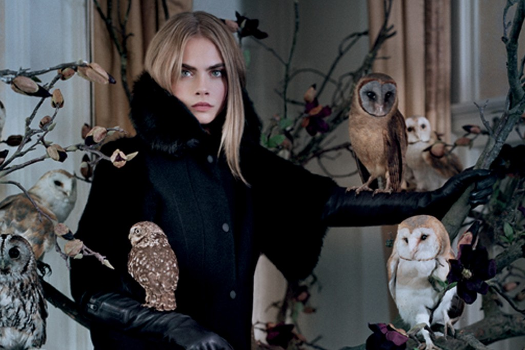 Cara Delevingne in Mulberry's fall campaign.