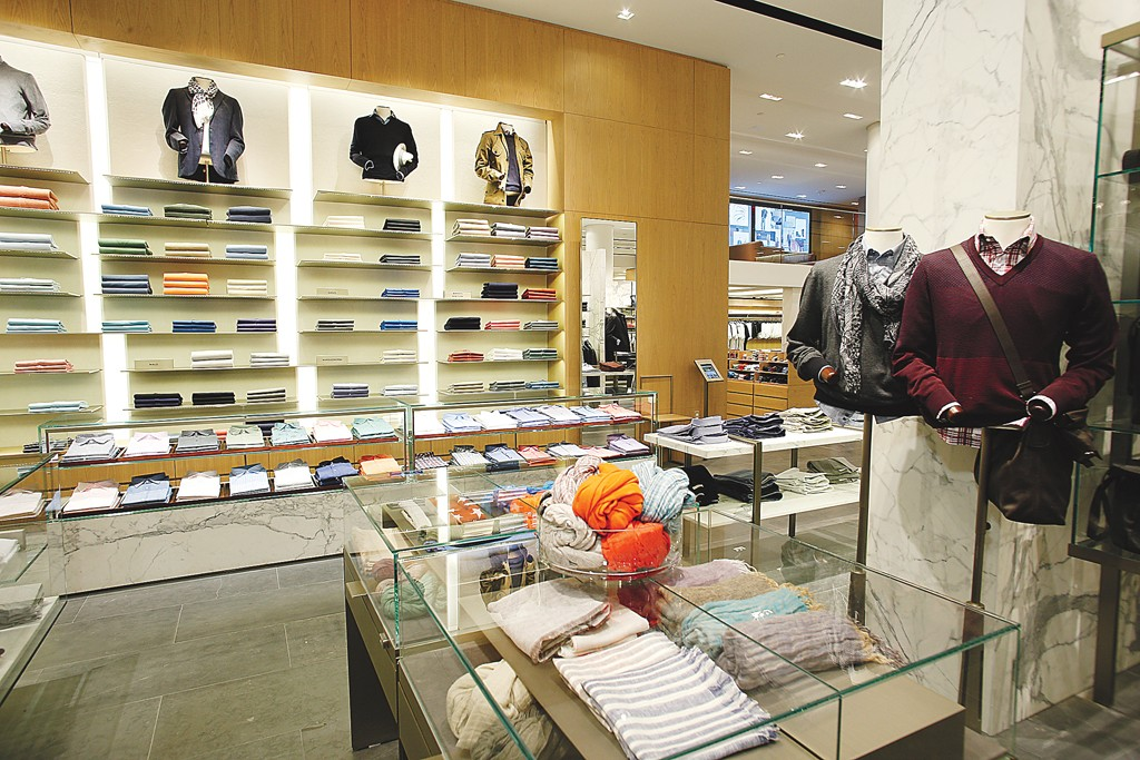 A view inside the Barneys store.