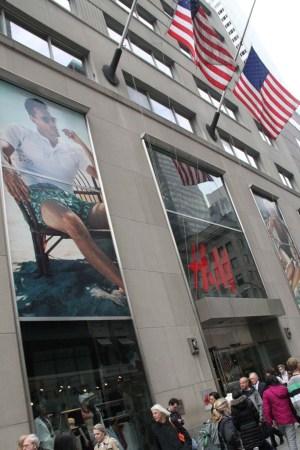 H&M in Manhattan.