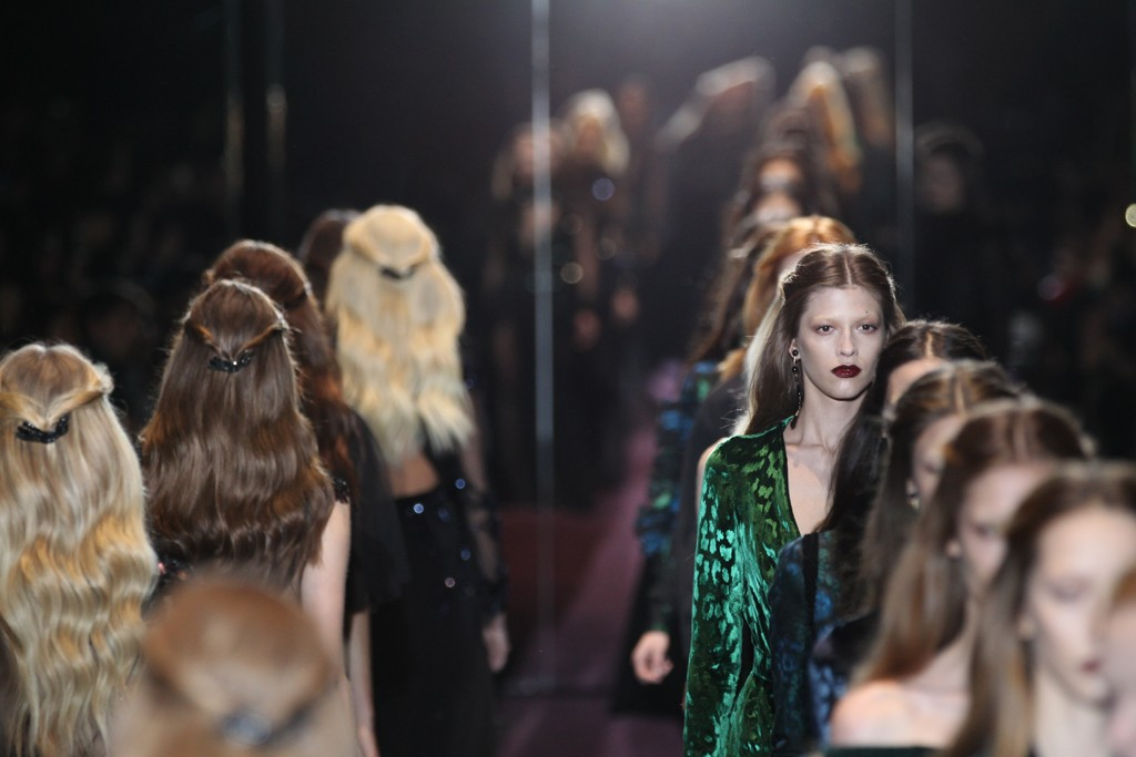 The finale at Gucci's fall 2012 show.