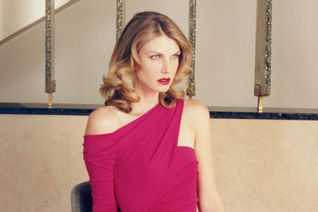 Angela Lindvall is featured in the fall ad campaign, shot by Venetia Scott.