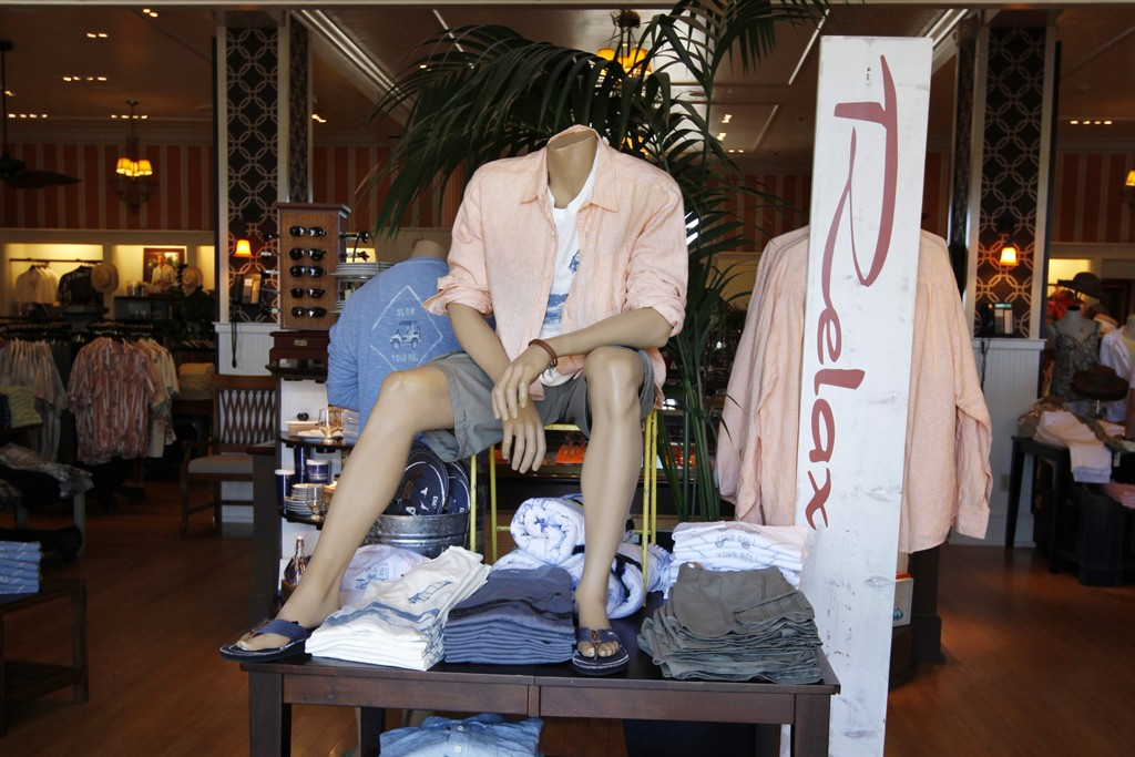 A men's display from Tommy Bahama.