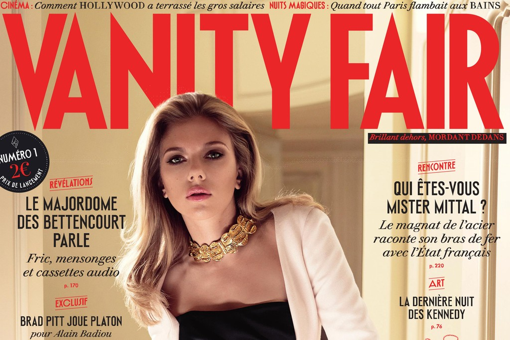 The cover of Vanity Fair France's inaugural issue