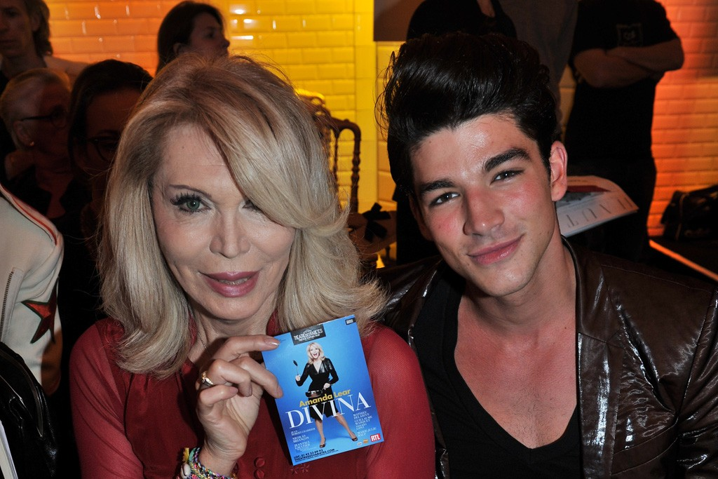 Amanda Lear and Tarik Lakehal