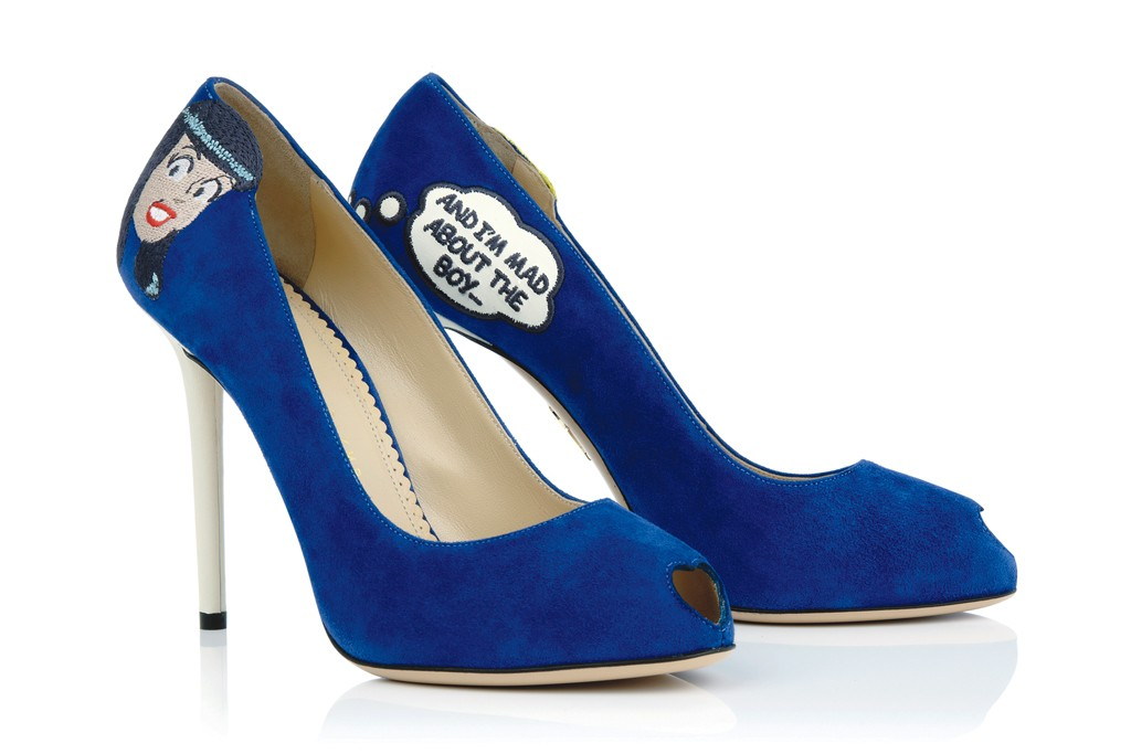 The Veronica suede pump by Charlotte Olympia.