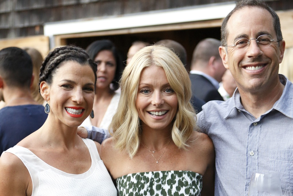 Jessica and Jerry Seinfeld with Kelly Ripa.