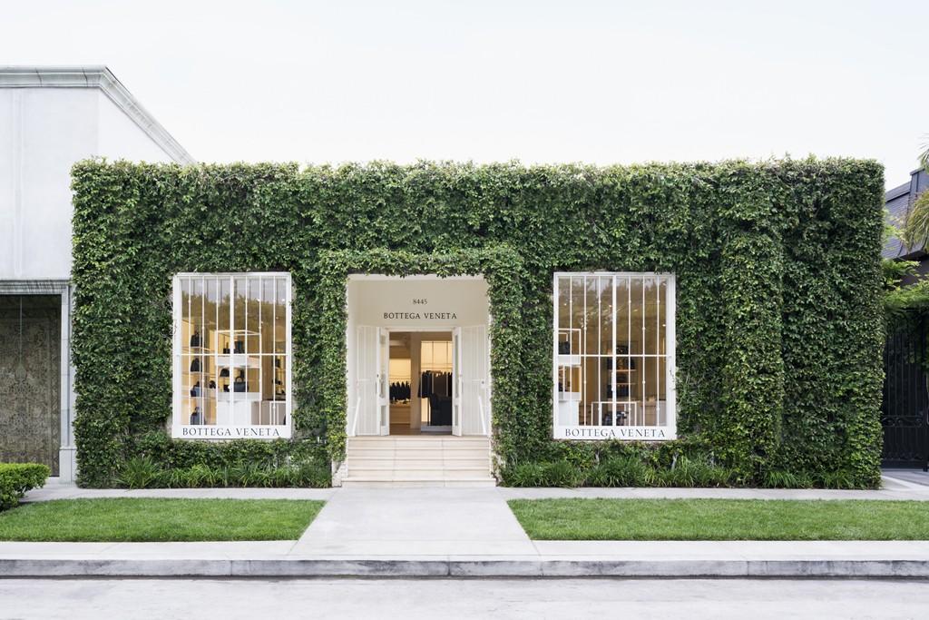 The Bottega Veneta store on Melrose Place.