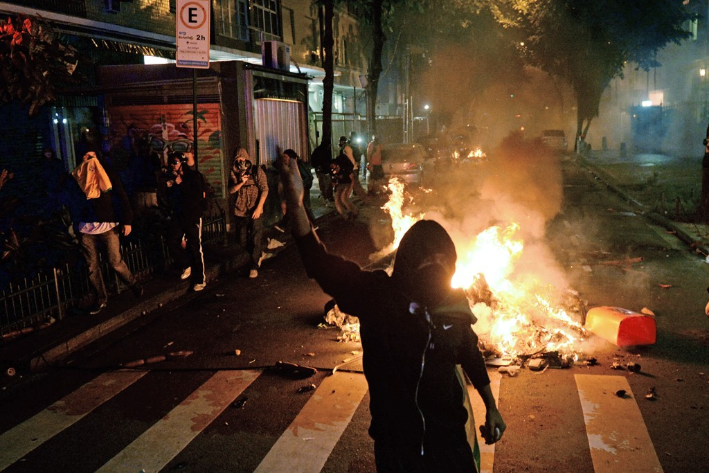 Fires were started to barricade streets.