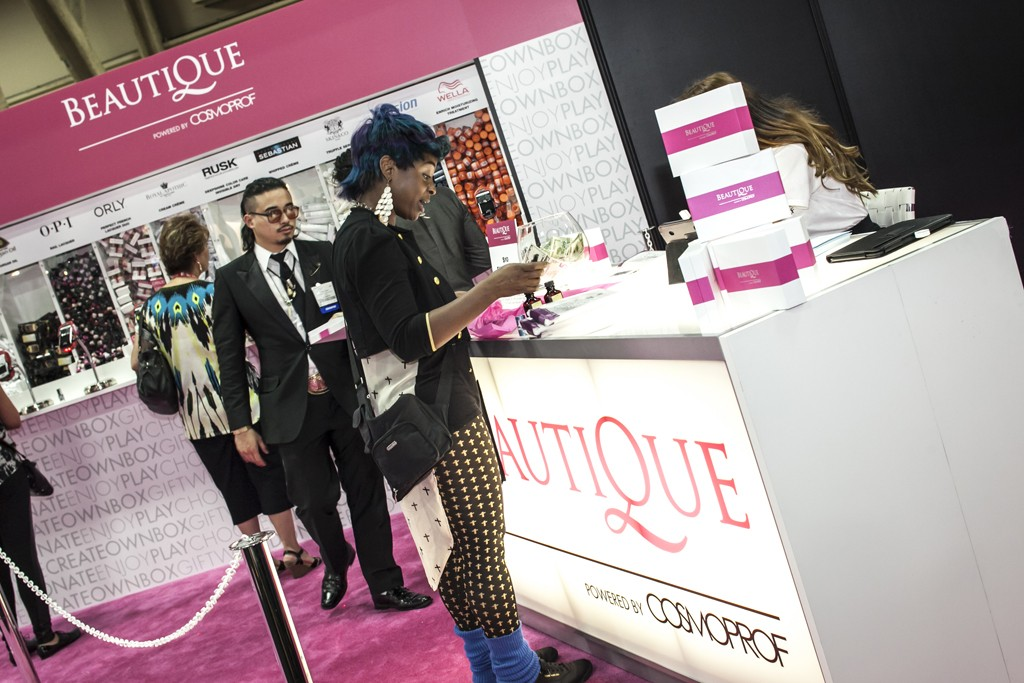 A scene from Cosmoprof North America in Las Vegas 2013.