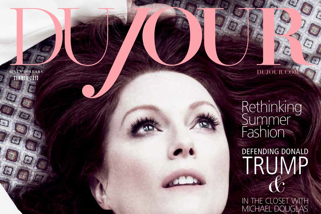 DuJour magazine cover with Julianne Moore