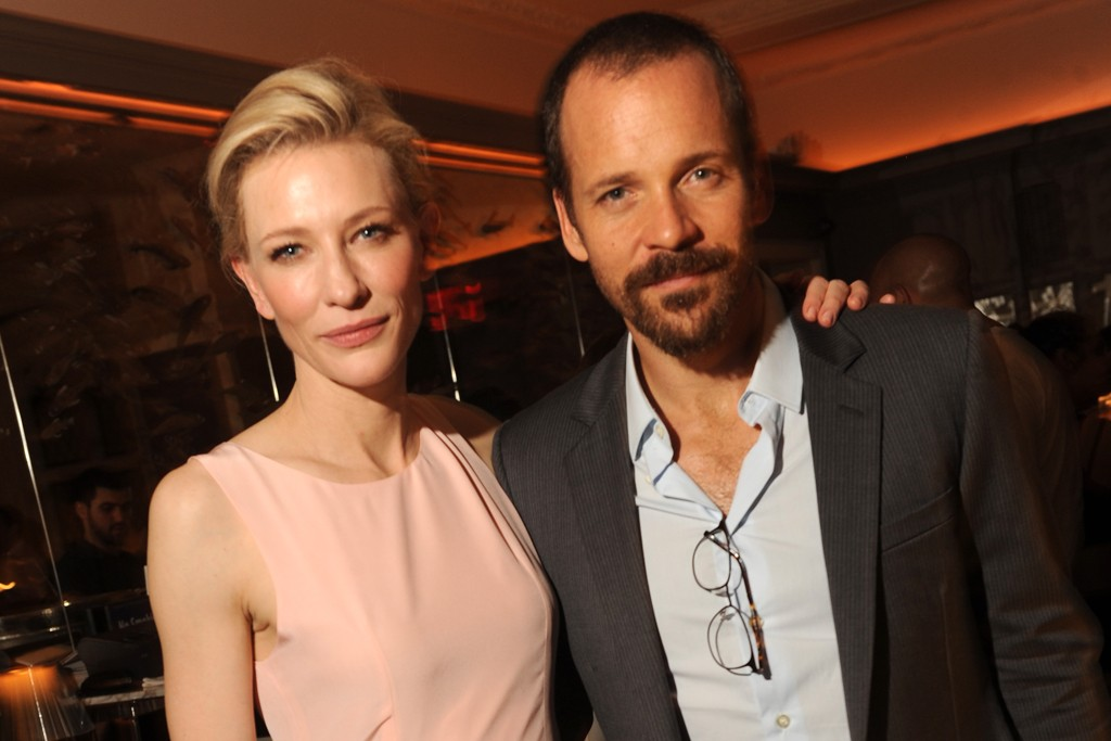 Cate Blanchett in Balenciaga and Van Cleef & Arpels with Peter Sarsgaard in Dior Homme and Emporio Armani.