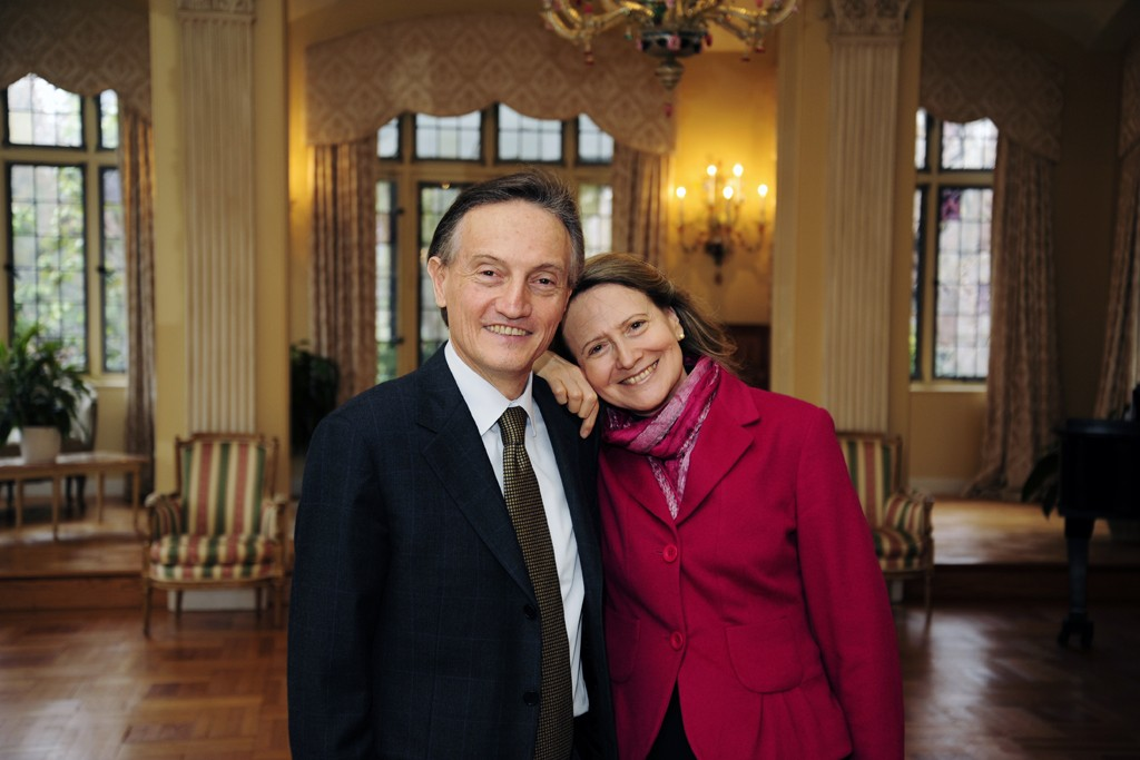 Italian Ambassador Claudio Bisogniero with his wife, Laura Denise Bisogniero.