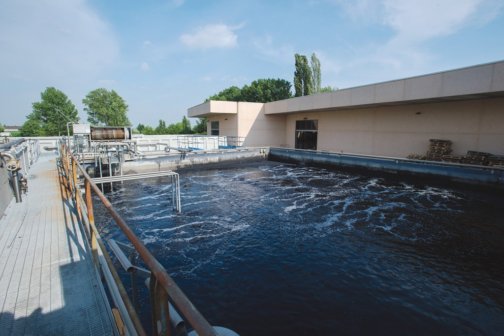The water purification system at Tintoria Manifattura Barbara.