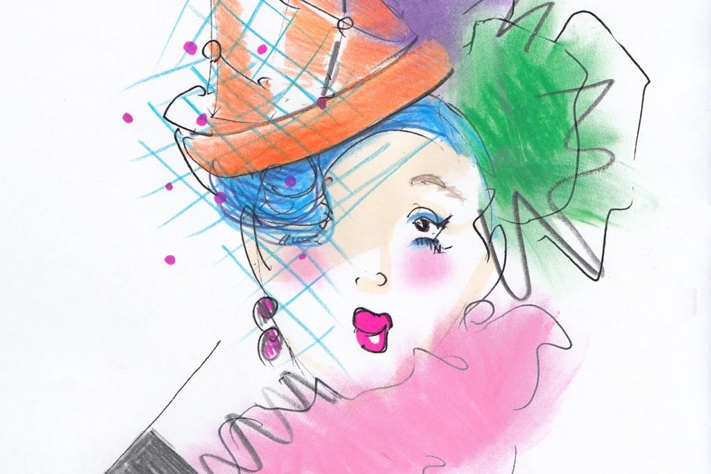 A sketch of Anna Piaggi.