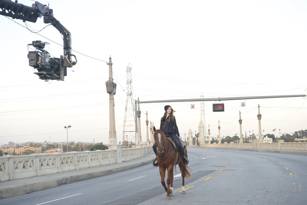 """A behind-the-scenes image of Avicii's """"Wake Me Up"""" video with Denim & Supply Ralph Lauren."""