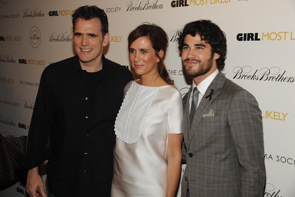 Matt Dillon with Kristen Wiig in Viktor & Rolf and Darren Criss in Brooks Brothers.