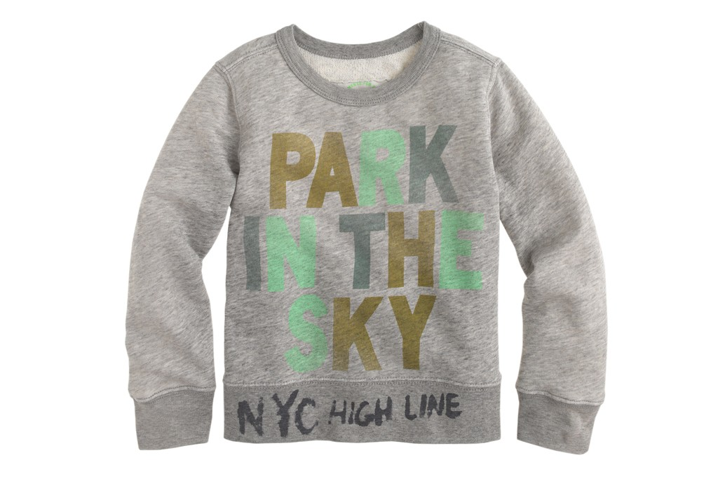 A sweatshirt from J. Crew's High Line limited edition capsule collection.