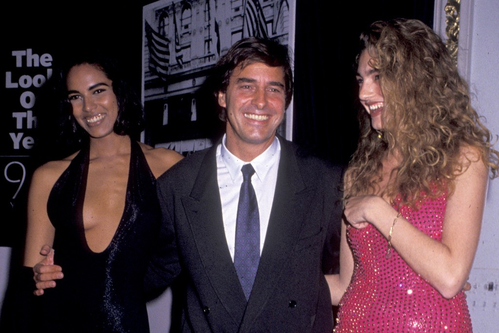 John Casablancas with two Elite models in 1991.