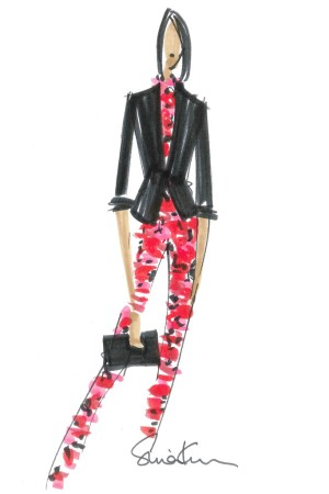 A sketch from the Banana Republic L'Wren Scott collection.