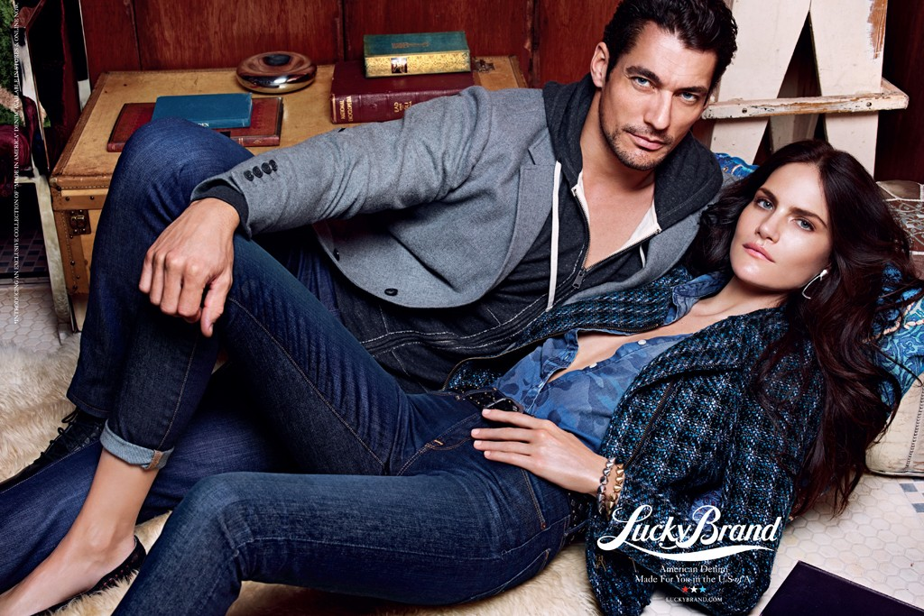 Ad for Lucky Brand's American-made jeans.