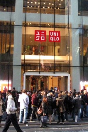 A rush for fast fashion at Uniqlo on Fifth Avenue.