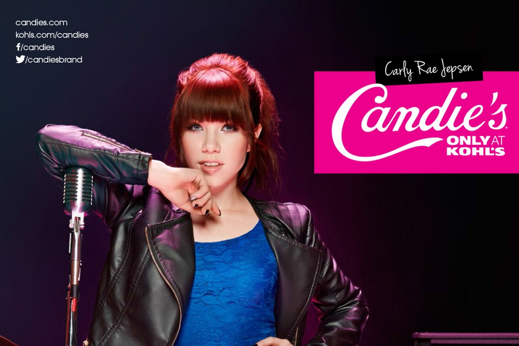 An image from Candie's back-to-school campaign featuring Carly Rae Jepsen.