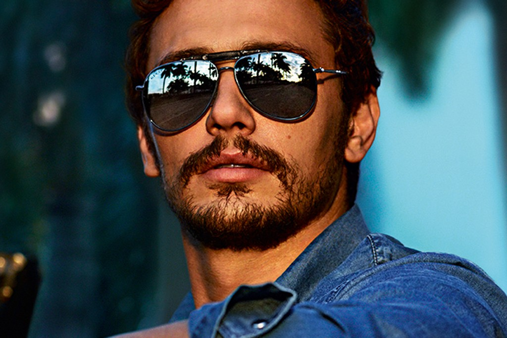 An ad from Gucci's fall eyewear campaign featuring James Franco, photographed by Mert Alas and Marcus Piggott.