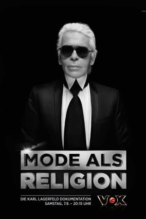 The promotional poster for a four-hour documentary about Karl Lagerfeld.