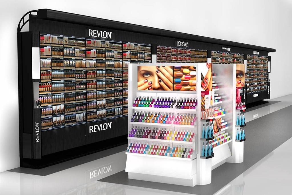 A rendering of CVS Pharmacy's Nail HQ display.