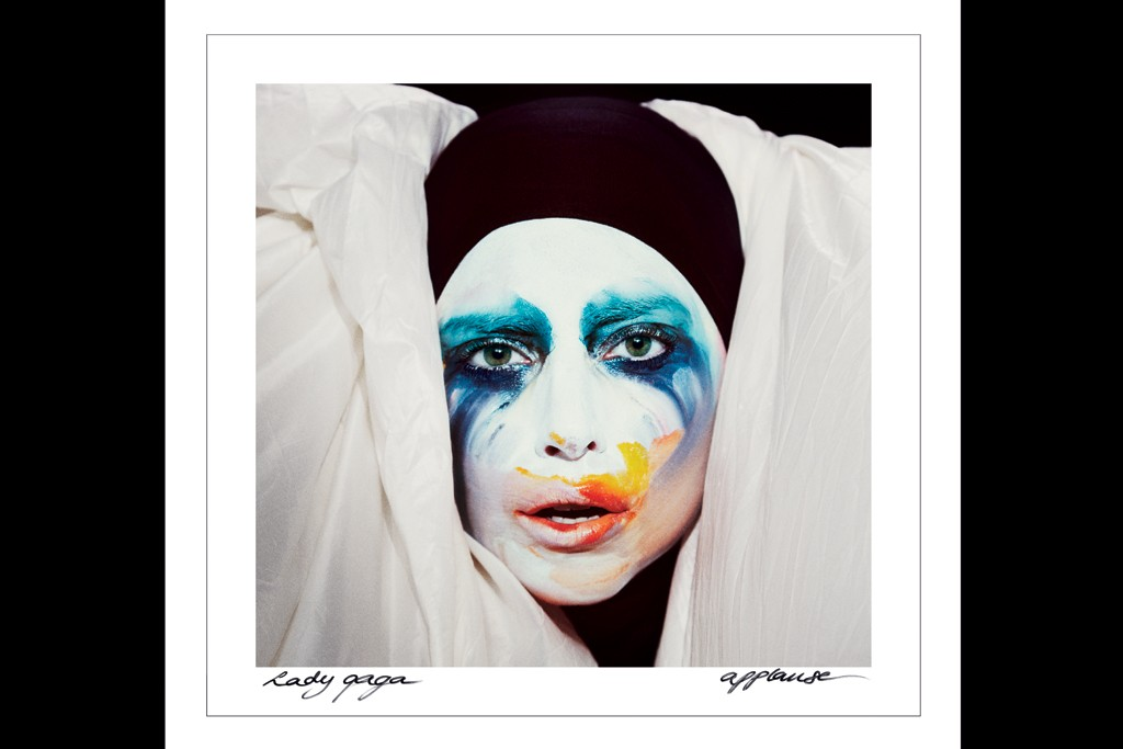"""The cover image from """"Applause,"""" Lady Gaga's first single from her new album ARTPOP. Shot by Inez van Lamsweerde and Vinoodh Matadin."""