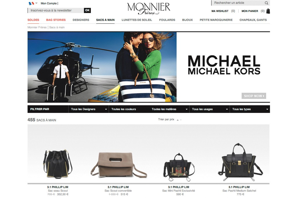 Monnier Frères website