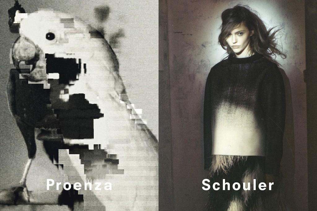 Proenza Schouler's fall 2013 campaign features Sasha Pivovarova.