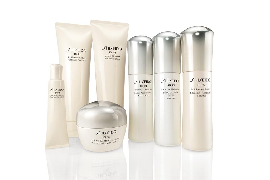 The Shiseido Ibuki range of products.