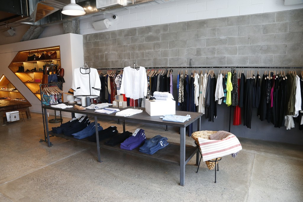 Interior of a Steven Alan store in Chelsea.