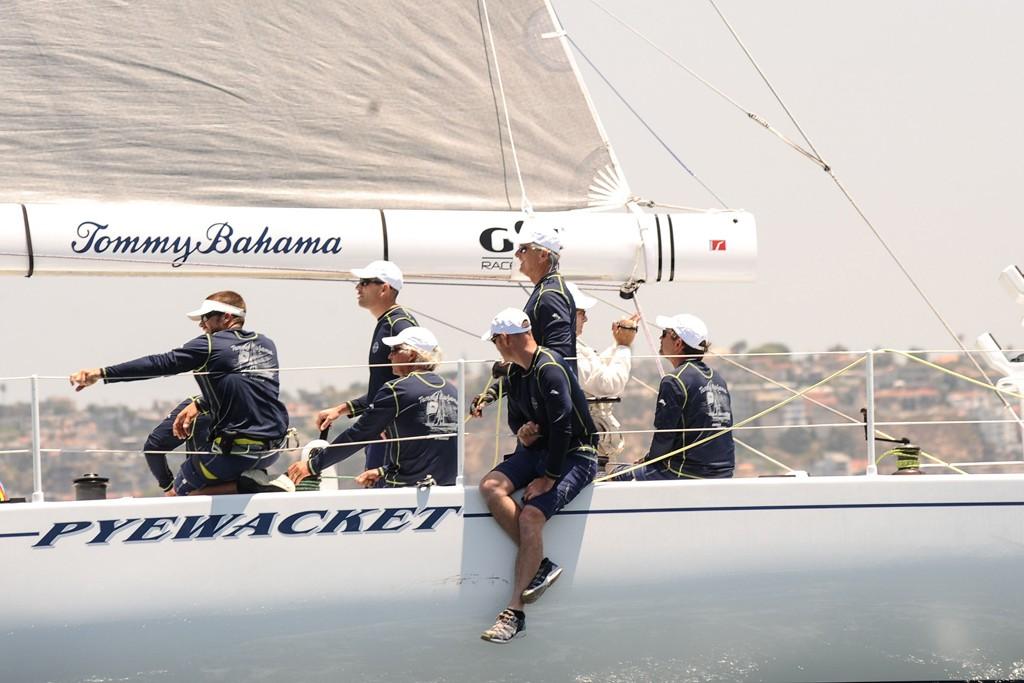 Roy Disney's team honing their skills at sea.