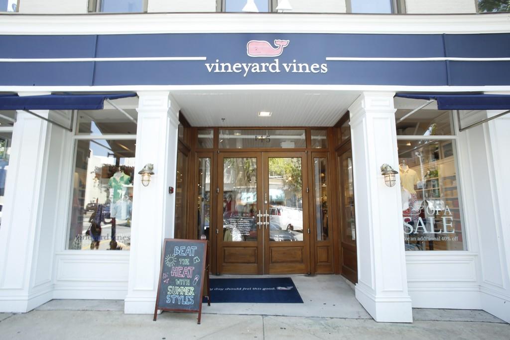 A Vinyard Vines store.