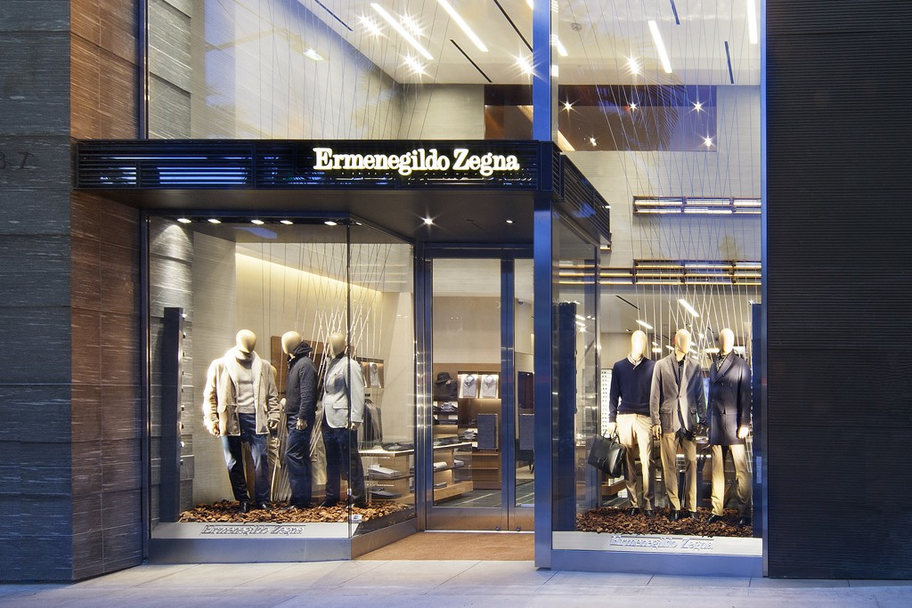 Ermenegildo Zegna's store on Rodeo Drive in Beverly Hills.