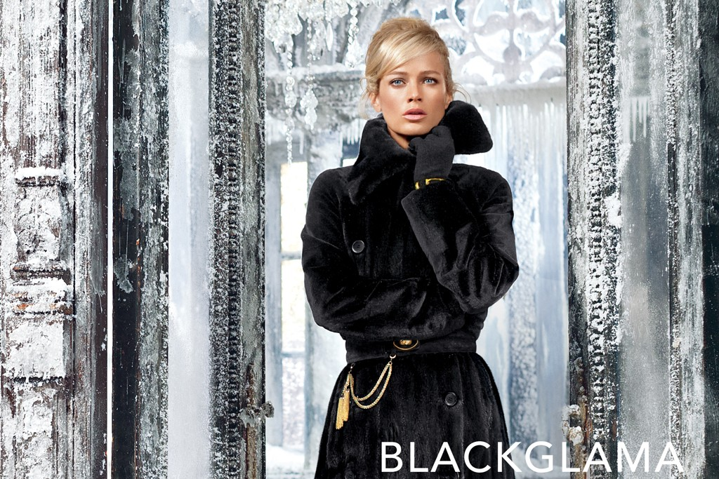 An ad from Blackglama's fall campaign featuring Carolyn Murphy.