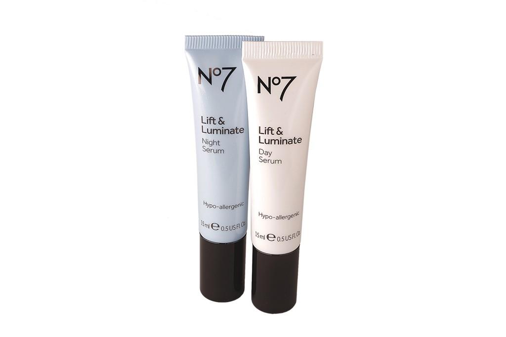 No7 Lift & Luminate Day Serum and No7 Lift & Luminate Night Serum