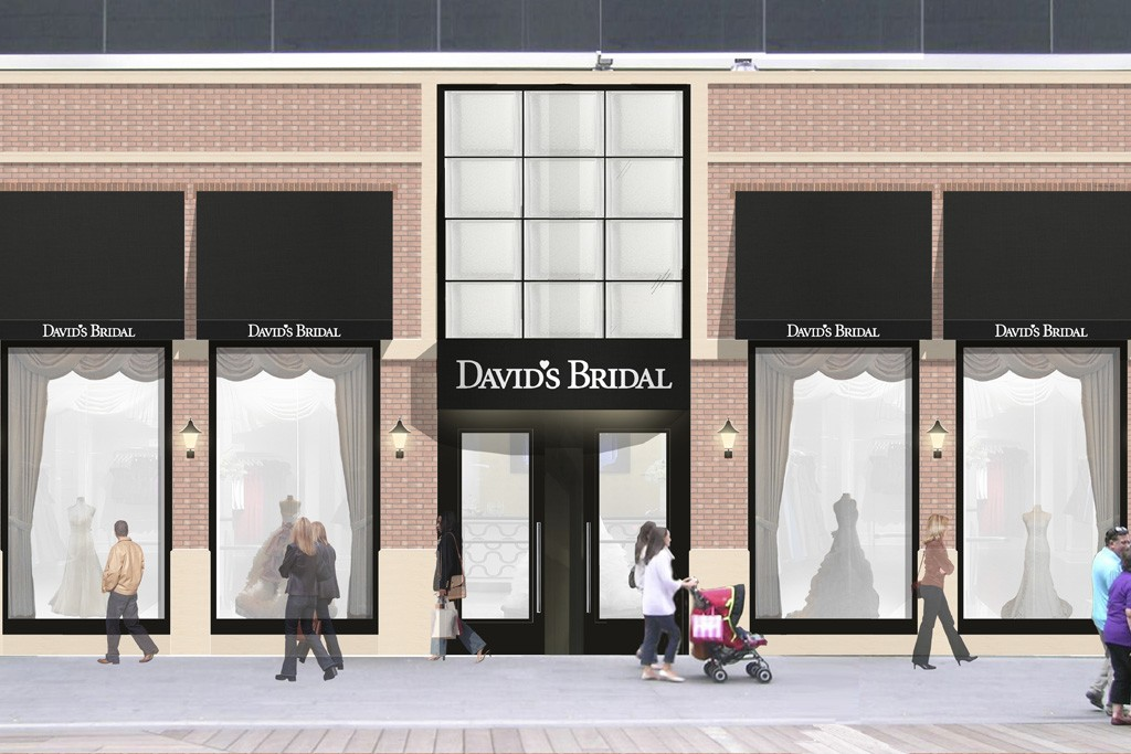 A rendering of the David's Bridal store in London.