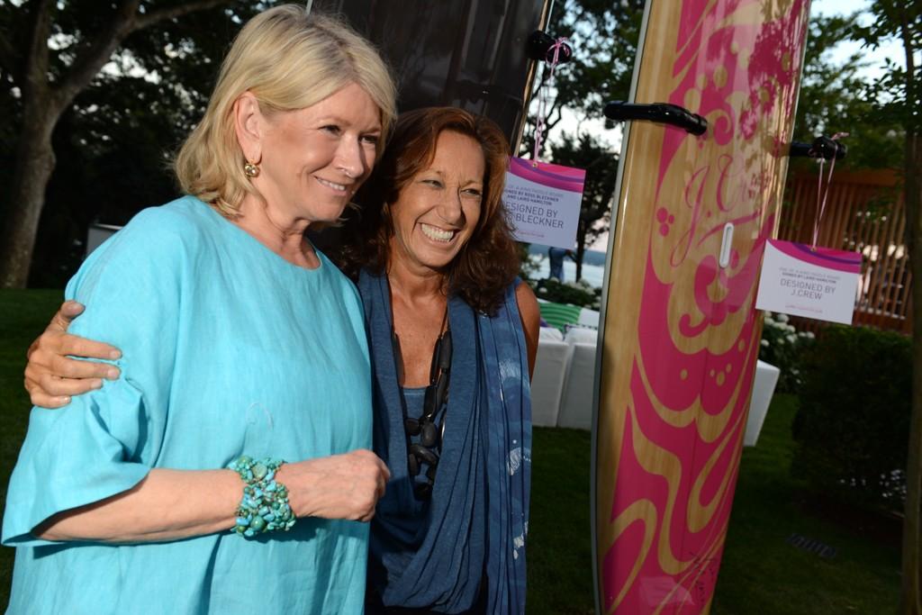 Martha Stewart and Donna Karan