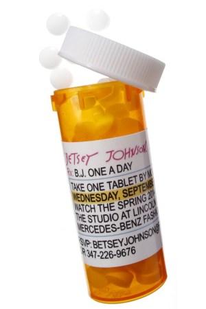 Betsey Johnson's invite bottle.