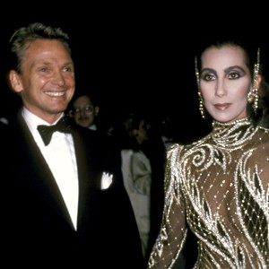 Cher and Bob Mackie at Diana Vreeland's 14th annual costume exhibit in 1985.