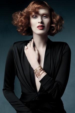 Karen Elson for Tiffany & Co.'s Atlas collection.