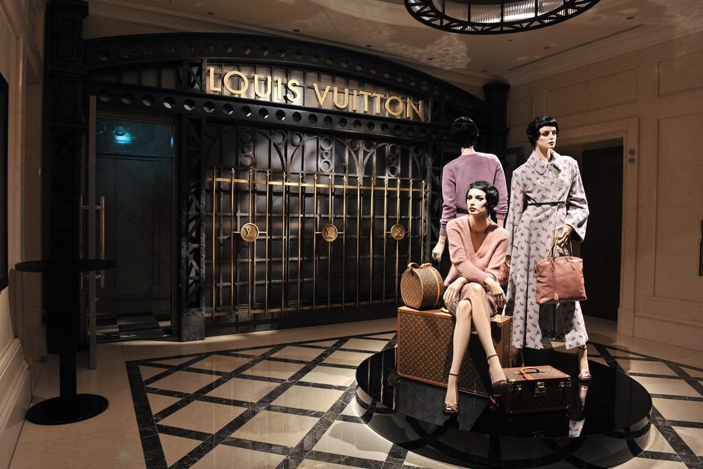 A view of Louis Vuitton's Timeless Muses at The Tokyo Station Hotel.