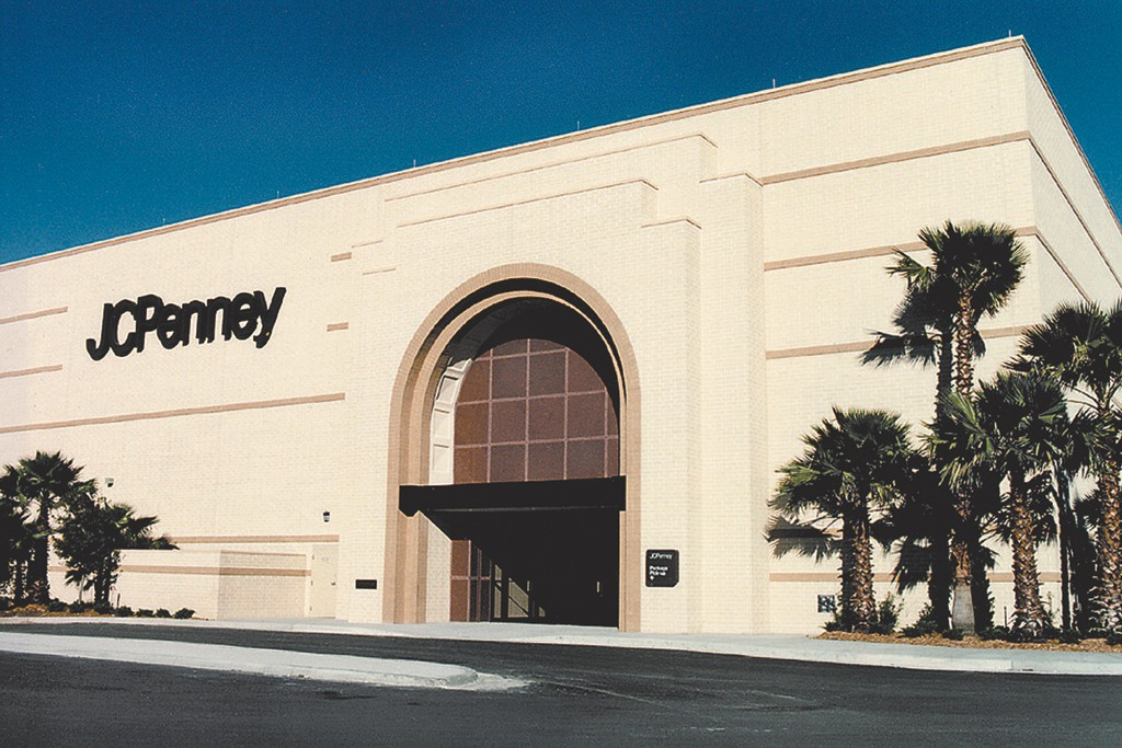 Exterior of J.C. Penney store.