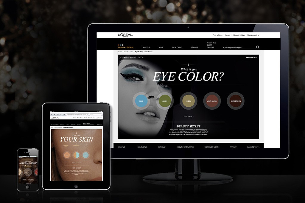 The L'Oréal Paris relaunched site.