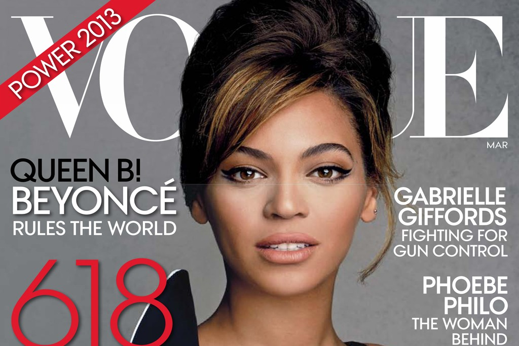 The cover of Vogue's March 2013 issue.