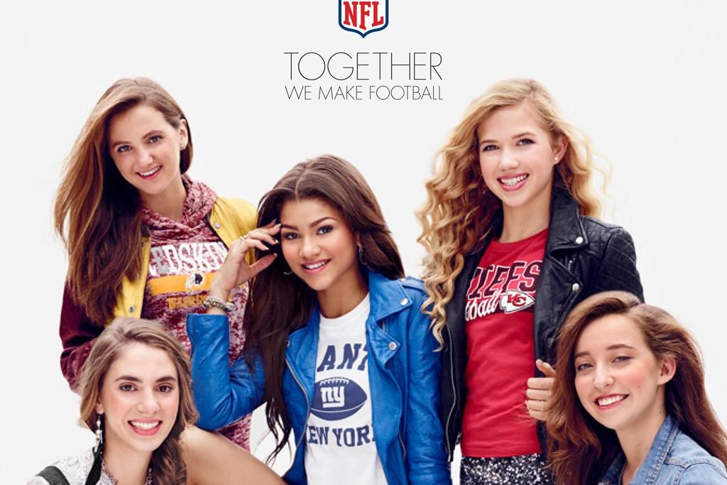 NFL Juniors ad features teen star Zendaya.
